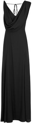 Paule Ka Black Draped Gown