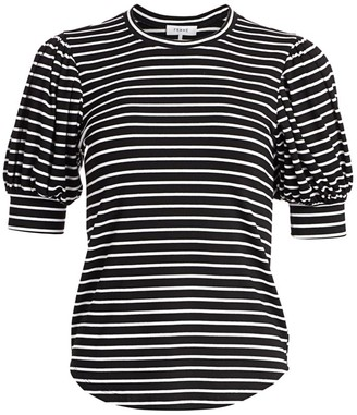Frame Balloon-Sleeve Stripe Tee