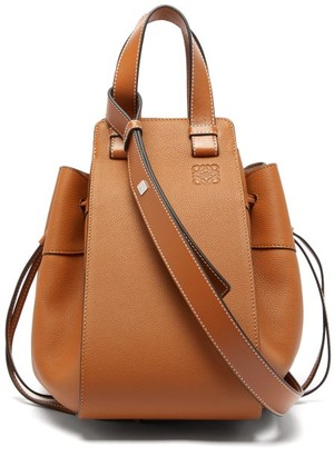 Loewe Hammock Medium Leather Tote Bag - Womens - Tan