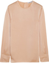 Elizabeth and James Maya Satin Blouse - Peach