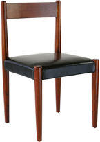 Ave Home Anders Dining Chair, Black Leather