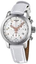 Tissot Women's Prc 200 T055.217.16.032.01 White Leather Swiss Chronograph Watch
