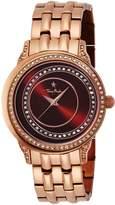 Thierry Mugler Women's Rose-Tone Steel Black Dial