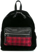 fe-fe checked pocket backpack