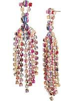 Betsey Johnson Multi-Color Graffiti Chandelier Statement Earrings