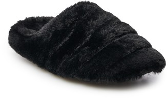 So Juniors' SO Quilted Faux Fur Clog Slippers