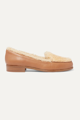 Tabitha Simmons Blakie Shearling And Leather Loafers - Cream