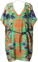 Matthew Williamson Rust Belted Kimono Dress