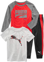 Puma 3-Pc. T-Shirts & Pants Set, Little Boys