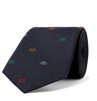 Gucci 7.5cm Appliqued Textured-Silk Tie