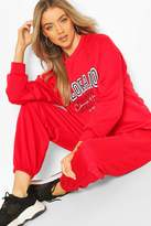 boohoo Colorado Denver Oversized Sweater Tracksuit
