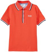 HUGO BOSS Pique Polo (Toddler/Kid) - Red - 2A