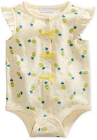 First Impressions Pineapple-Print Cotton Snap-Up Bodysuit, Baby Girls (0-24 months), Only at Macy's