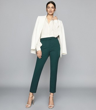 Reiss Joanne - Slim Fit Tailored Trousers in Teal