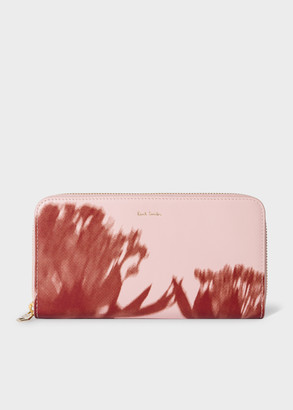 Paul Smith Women's Pink 'Screen Floral' Leather Zip-Around Wallet