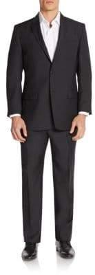 Versace Regular-Fit Tonal Pindot Wool-Blend Suit