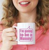 Sparks Living Personalised 'I'm Going To Be A Mummy' Mug