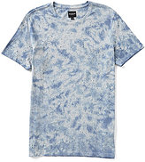 GUESS Short-Sleeve Trent Fleck Destroy Knit Shirt