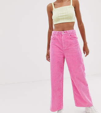 Reclaimed Vintage The '93 wide leg cord jeans in bright pink