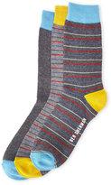 Ben Sherman 3-Pack Grey Multi Stripe Socks