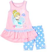 Children's Apparel Network Pink Disney Princess Cinderella Tank & Blue Shorts - Girls