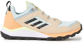 adidas Terrex Agravic Color-block Faux Suede And Mesh Sneakers