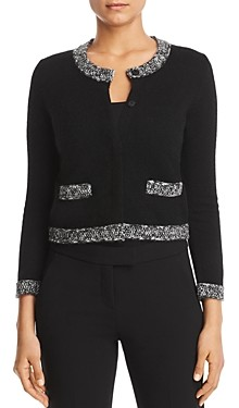Bloomingdale's C by Marled Trim Cashmere Cardigan - 100% Exclusive
