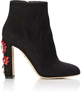 Dolce & Gabbana Women's Jeweled Ankle Boots-BLACK