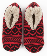 Red & Black Gripper Slipper Socks