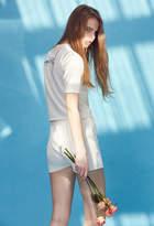 Sleepy Head Knit Shorts [White,sky Blue,navy]
