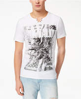 Buffalo David Bitton Men's Split-Neck Graphic-Print T-Shirt