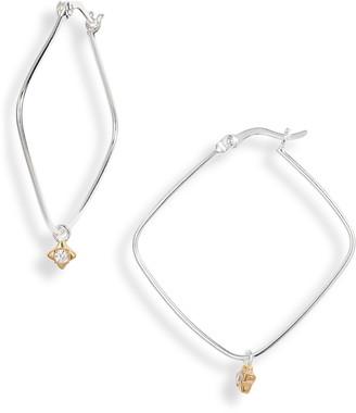 Argentovivo Rhombus Hoop Earrings