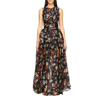 Ermanno Scervino Dress Long Dress In Printed Silk