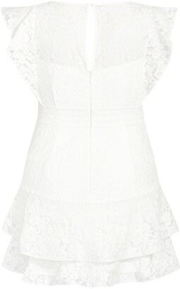 City Chic Sienna Lace Fit & Flare Minidress