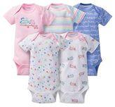 Gerber Baby Girls' 5pk Owl Onesies - Pink/Blue