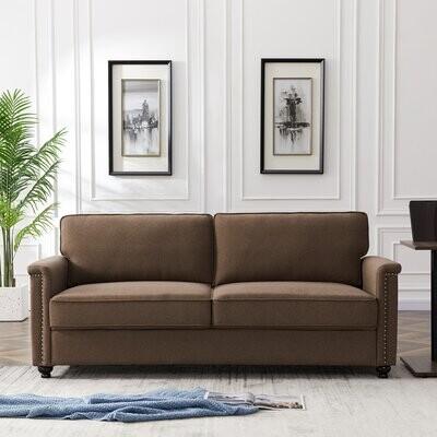 Thumbnail for your product : Alcott Hill Polanco 75.6'' Linen Sofa