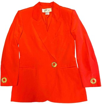 Genny Red Silk Jacket for Women Vintage