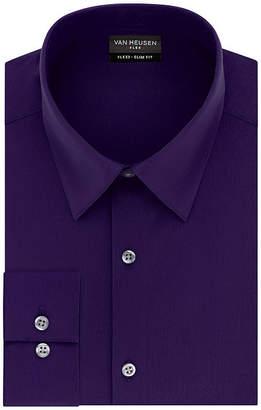 Van Heusen Mens Point Collar Long Sleeve Dress Shirt - Fitted