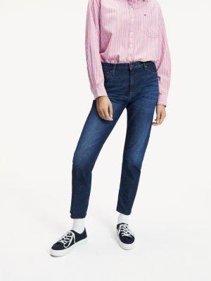 Tommy Hilfiger Slim Fit Mid Wash Cropped Jeans