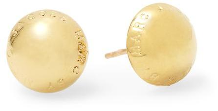 Marc by Marc Jacobs Domed Logo Stud Earring