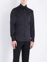 Brioni Dollar pinstriped slim-fit silk shirt