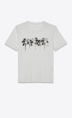 """Saint Laurent T-shirt And Jersey """"palmeraie"""" T-shirt Natural L"""