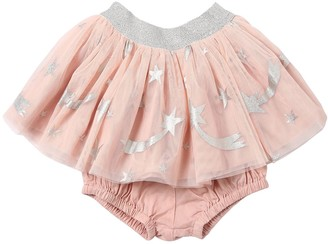 Stella McCartney Star Print Tulle Skirt W/ Diaper