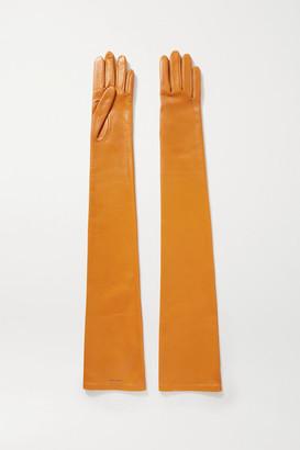 Saint Laurent Leather Gloves - Mustard