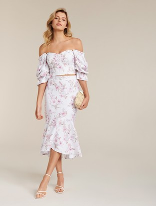 Forever New Vera Petite Puff Sleeve Co-Ord Top - Watercolour Bloom - 4