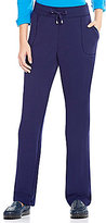Allison Daley Petites Pull-On Modern Straight Leg Pants
