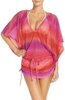 Luli Fama Women's 'Cabana' Ruched Crochet Cover-Up