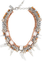 Assad Mounser Multi-Chain Crystal Collar Necklace