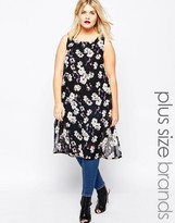 AX Paris Plus Tunic Top With Side Splits In Floral Print