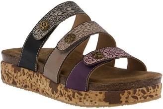 Spring Step L'Artiste by Leather Slide Sandals- Keena